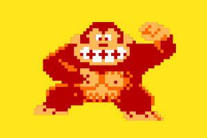Donkey kong barrel pixel - photo#17