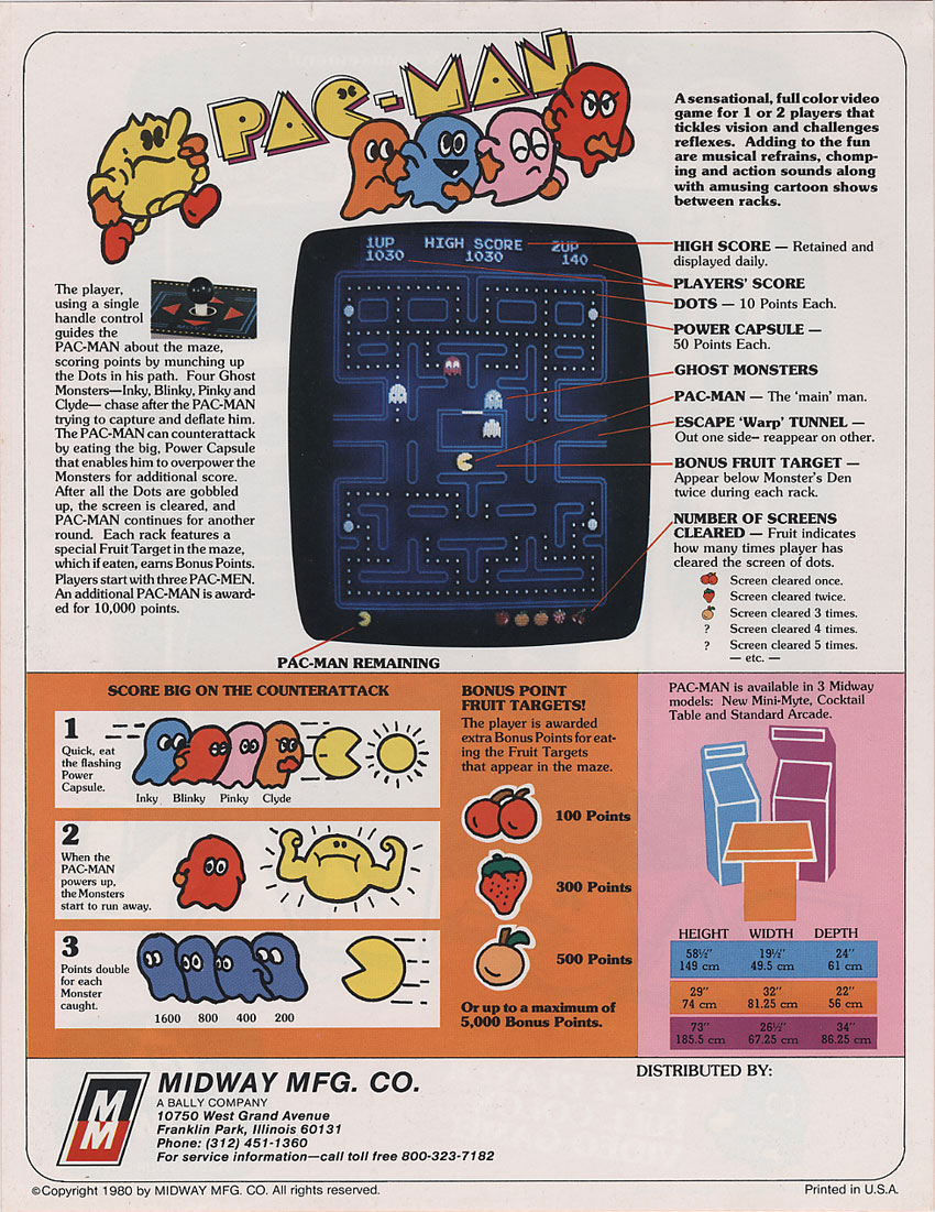 pac man flyers arcade game brochures ads and marketing materials pac man marketing material 12 1