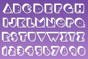retro arcade font generator