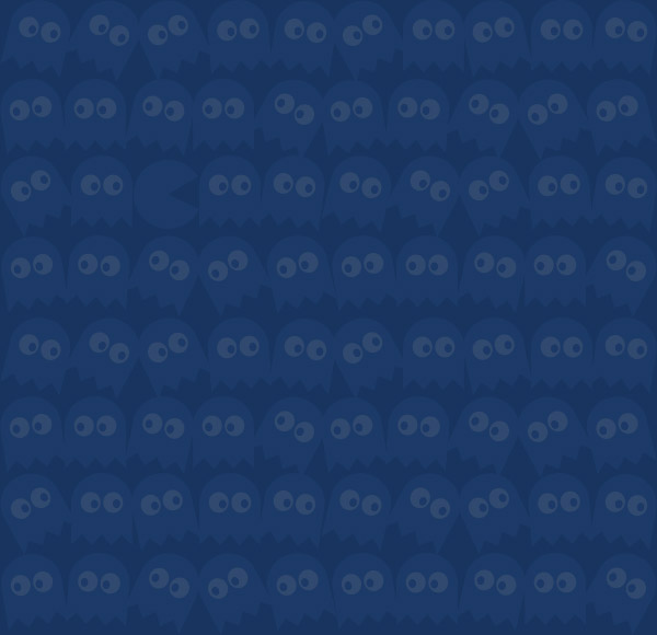 Ghosts Faded Pac Man Seamless Background Tiled Pattern Desktop Image