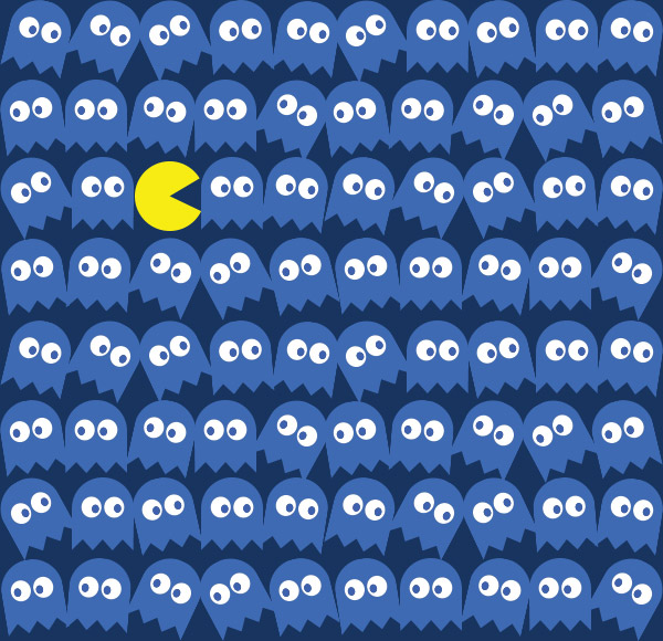 ghosts pac man seamless background tiled pattern desktop image