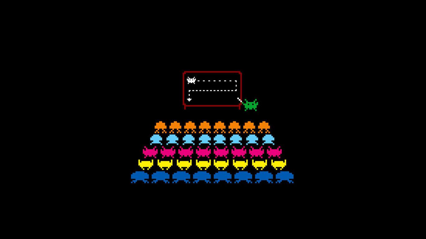 wallpaper and desktop backgrounds from space invaders the arcade game