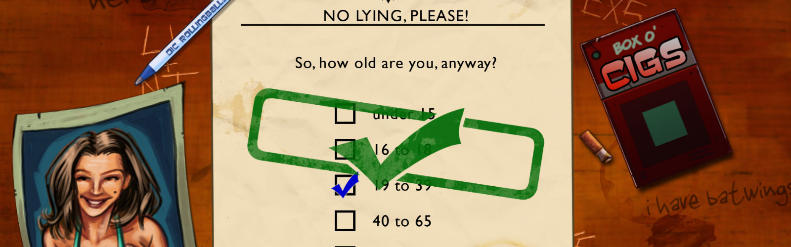 Age Verification Quiz From Leisure Suit Larry In The Land Of The Lounge Lizards Chronological age doesn't always correlate with emotional age! classic gaming