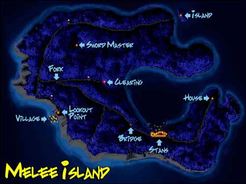 The Secret Of Monkey Island Treasure Map