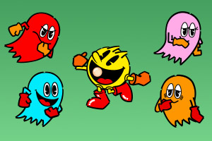 Pac-Man Vector Art | Arcade Game Hires Eps and Illustrator AI files